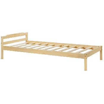 34525 Hartford natural wooden bed frame - Single
