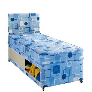 Airsprung alpha mattress single single coil sprung for Cheap single divan with drawers