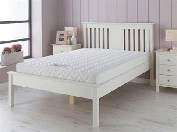 AirSprung Devon - White 3' Single White Bed Frame Only Wooden Bed