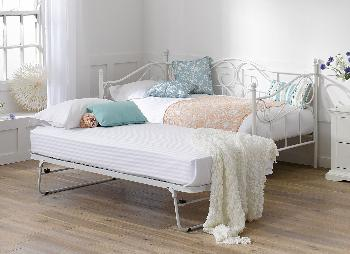 Amy White Metal Under Bed Trundle - 3'0 Single