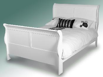 Annaghmore Louis Phillipe King Size White Wooden Bed Frame