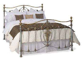 Heartlands Alamo Double Silver Metal Bed Frame Small Double Metal Beds