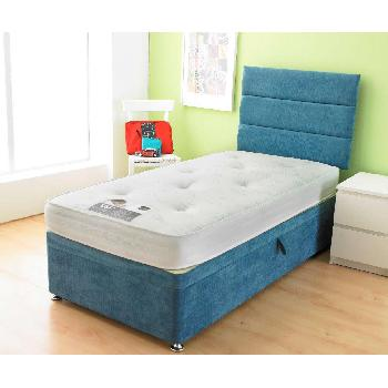 Bambini Blue Divan Base Bambini Base No Drawer 2ft 6 Denim Blue