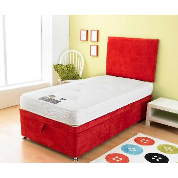 Bambini Red Divan Base Bambini Base 3ft Vertical Ottoman Turin Red