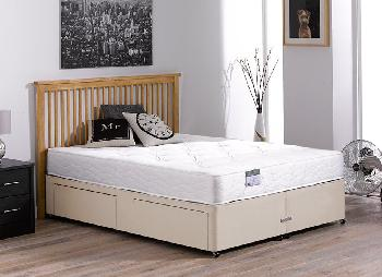 Beaumont Pocket Sprung Divan Bed - Firm - Beige - 4'0 Small Double