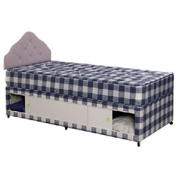 Bedmaster Paris Solid Top Divan Set Small Double-No Drawers