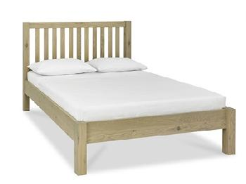 Bentley Designs Turin Low Footend Bedstead 5' King Size Aged Oak Wooden Bed