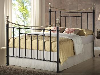 Birlea Bronte Double Black Metal Bed Frame