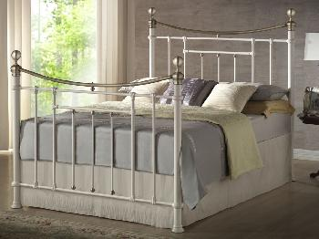 Birlea Bronte Double Cream Metal Bed Frame