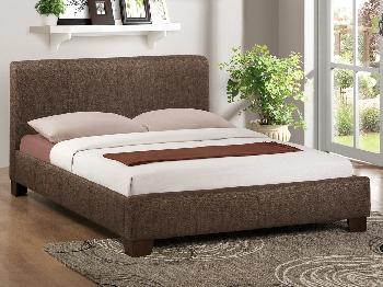 Birlea Brooklyn King Size Chocolate Fabric Bed Frame