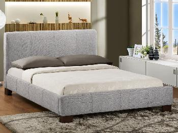 Birlea Brooklyn King Size Light Grey Fabric Bed Frame