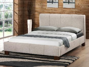 Birlea Brooklyn King Size Wheat Fabric Bed Frame