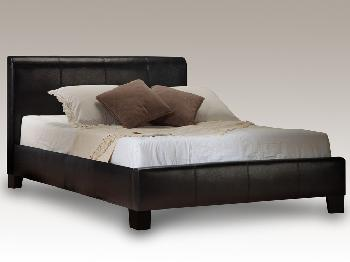 Birlea Brooklyn Super King Size Black Faux Leather Bed Frame
