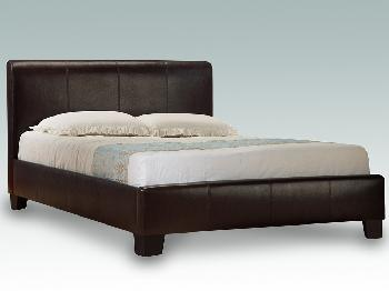 Birlea Brooklyn Super King Size Brown Faux Leather Bed Frame