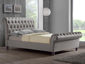 Birlea Castello Super King Size Grey Fabric Bed Frame King Size