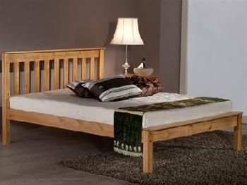 Birlea Denver Low Foot End (Antique Pine) 4' Small Double Pine Low Foot End Wooden Bed