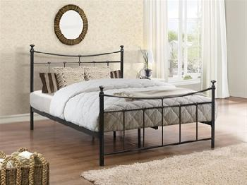 Birlea Emily 3' Single Glossy Cream Metal Bed