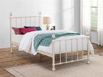 Birlea Jessica Cream 3' Single Cream Metal Bed
