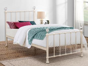 Birlea Jessica Single Cream Metal Bed Frame