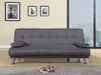 Birlea Logan Fabric 4' Small Double Fabric Grey Other Sofa Bed