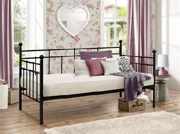 Birlea Lyon Day Bed 3' Single Cream Metal Bed