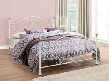 Birlea Milano Cream 4' Small Double Cream Metal Bed