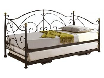 Birlea Milano Daybed 3' Single Cream Metal Bed