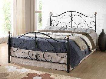 Birlea Milano Double Black Metal Bed Frame