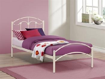 Birlea Poppy 3' Single Cream Metal Bed