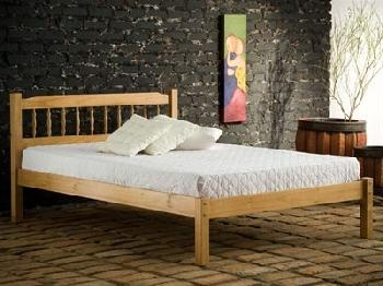 Birlea Santos 4' Small Double Natural Slatted Bedstead Wooden Bed