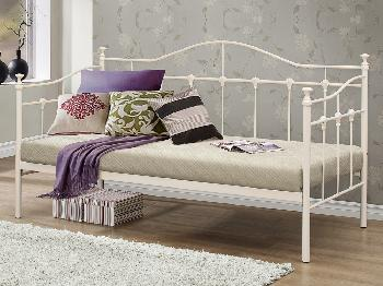 Birlea Torino Cream Metal Day Bed Frame