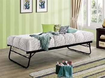 Birlea Trundle Bed 3' Single Black Stowaway Bed