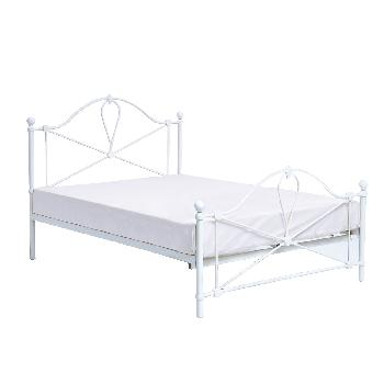 Bronte White Metal Bed Frame - Double