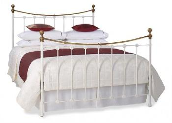 Carrick Satin White Metal Bed Frame - 6'0 Super King