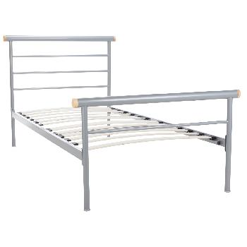 Celine Silver Bed Frame - Single