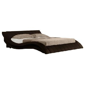 Cosmo Brown Faux Leather Bed Frame Cosmo Brown Faux Leather Double Bed