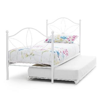 Daisy Metal Guest Bed White Gloss