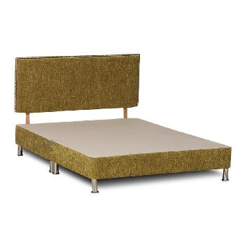 Deluxe Chenille Divan Base - Single - Lime