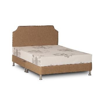 Deluxe Linen Divan Base - Double - Gold