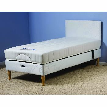 Devon Adjustable Bed Set with Reflex Foam Mattress - Small Single - Self Assembly Required - With Heavy Duty - With Massage Unit