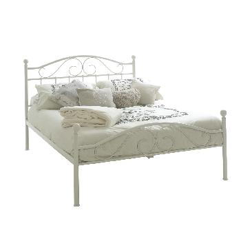Devon Metal bed frame with Mattress and Bedding Bale Single