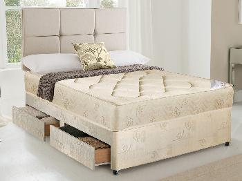 Dura 4ft York Damask Small Double Divan Bed