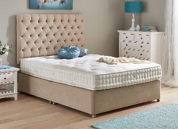Flaxby natures essence pocket sprung divan bed natural for Pocket sprung single divan beds