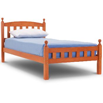 Florence Wooden Bed Frame Single Cherry