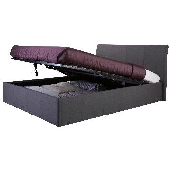 GFW Ascot Upholstered Ottoman Bed Double Grey