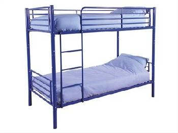 GFW Florida Blue 3' Single Blue Metal Bunk Bed