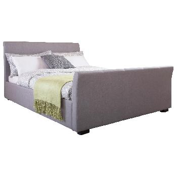 GFW Hannover Upholstered Bed Frame in Silver Kingsize