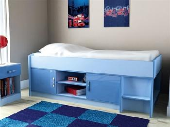 GFW Ottawa - 2-Tone Blue - Low Cabin Bed 3' Single 2 Tone Blue Cabin Bed