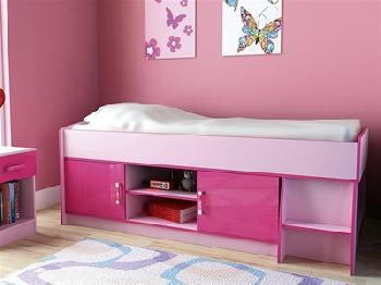 GFW Ottawa - 2-Tone Pink - Low Cabin Bed 3' Single 2 Tone Pink Cabin Bed