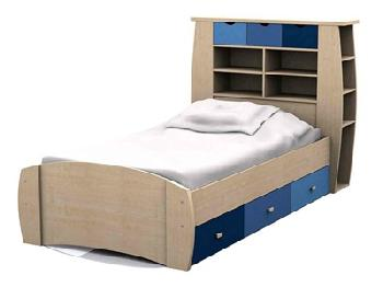 GFW Sydney Blue Storage Bed 3' Single Blues Kids Bed